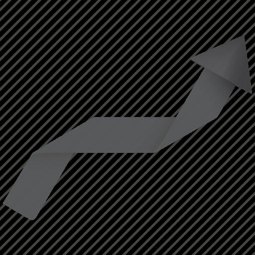 achievement, arrow, ascending, business, chart, enhance, graph, rate, statistics, success, up icon