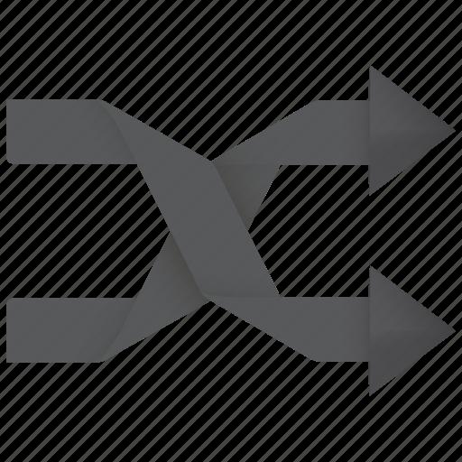 arrow, chance, change, control, cross, luck, media, mix, mixed, random, randomize, shuffle icon