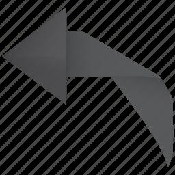 arrow, back, left, restore, revert, rotate, turn, undo icon