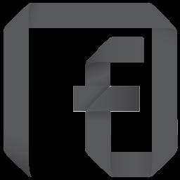 channel, f, facebook, fan, fan page, follow, origami, page, social, social media icon