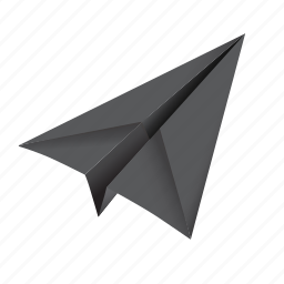 airplane, email, forward, letter, mail, origami, paper plane, post, send icon