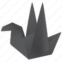 bird, fan, follow, origami, tweet icon