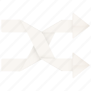 arrow, chance, change, control, cross, luck, media, mix, mixed, random, randomize, shuffle icon