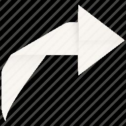 arrow, forward, redo, restore, revert, right, rotate, turn icon