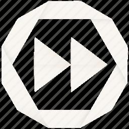audio, fast forward, forward, multimedia, next, player, skip, video icon