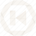 audio, back, multimedia, player, previous, video icon