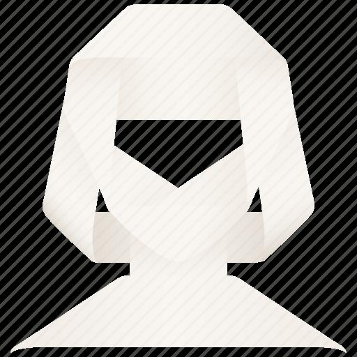 account, face, female, girl, head, person, profile, user, woman icon
