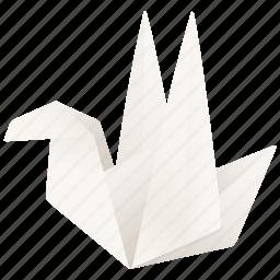 animal, bird, follow, origami, tweet, twitter icon