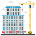 building repair, commercial construction, commercial scaffolding, construction site, scaffolding icon