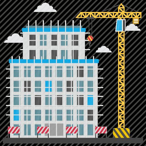 building repair, commercial construction, commercial scaffolding, construction site, scaffolding icon