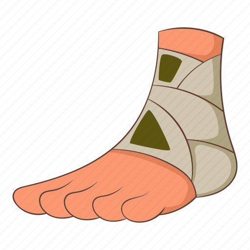 ankle, injury, man, pain icon