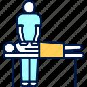 massage, orthopedics, physiotherapy, procedure icon