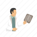 doctor, ray, treatment, x-ray icon