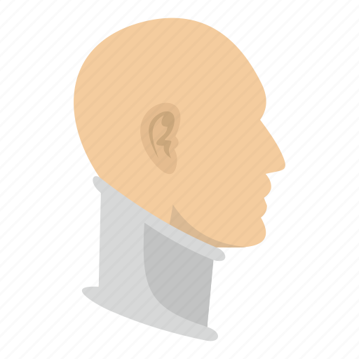 accident, aid, cervical collar, injury, man, neck, wounded icon
