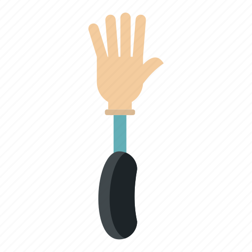 amputated, amputation, artificial, body, device, limb, prosthesis hand icon