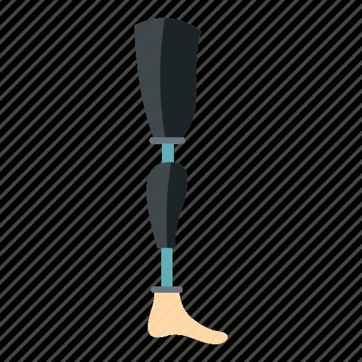 amputated, amputation, artificial, body, device, limb, prosthesis leg icon