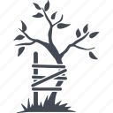 bandage, broken tree, orthopedics, tree icon