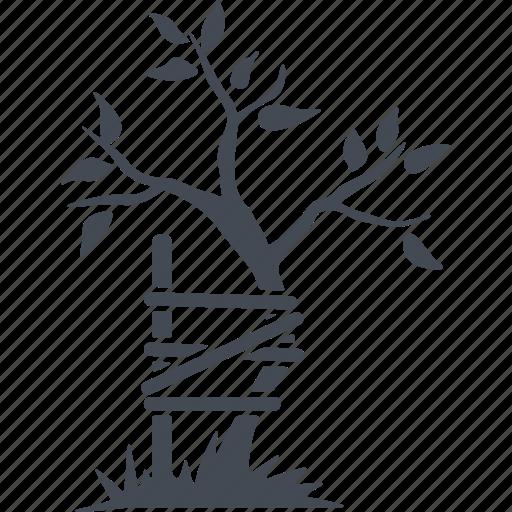 bandage, broken tree, orthopedics, tree icon