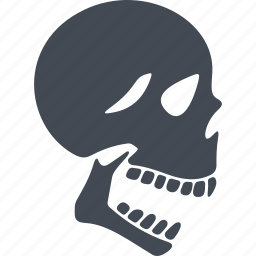 orthopedics, skeleton, skull, skull head icon