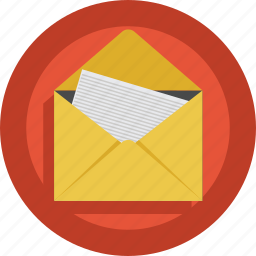 contact, email, envelope, mail, mailbox, news, open, read, receive icon