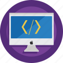 code, computer, css, developer, device, html, imac icon