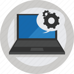 computer, device, laptop, setting, settings icon