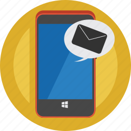 cell phone, contact, email, message, mobile, new, smartphone icon
