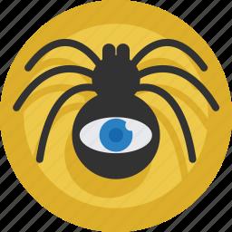 eye, internet, online, sem, seo, spider, web icon