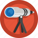 moon, observe, planet, sky, space, star gazing, stars, telescope icon