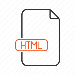 extension, html, page, type, web, website icon