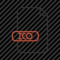 extension, file, ico, type icon