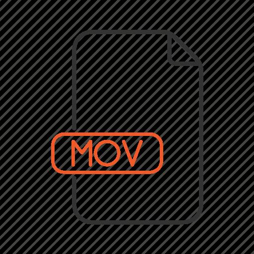 audio, extension, mov, sound, type, video icon