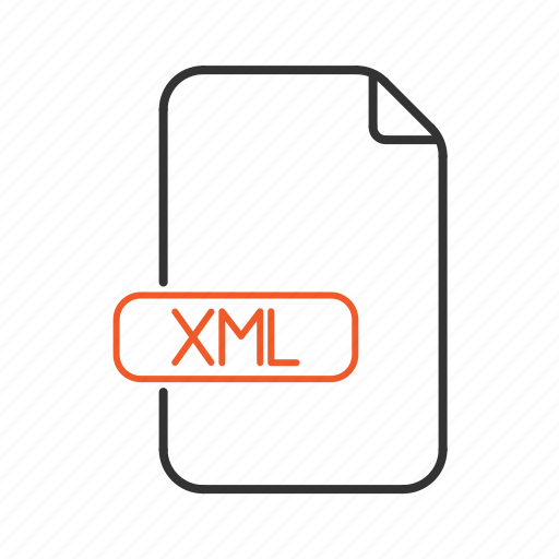extension, file, scripting, type, xml icon
