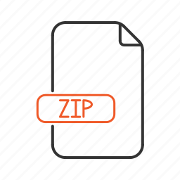 compressed, extension, type, zip icon