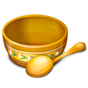 bowl, food, spoon icon