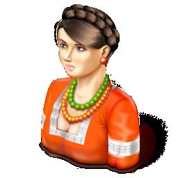 girl, oksana icon