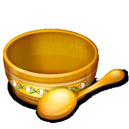 bowl, food, spoon icon