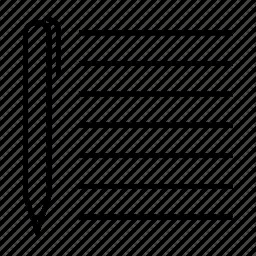edit, file, format, pen, task icon
