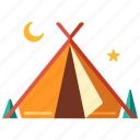 adventure, camp, camping, outdoor, shelter, tent, tourist icon