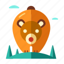 adventure, animal, bear, exploration, forest, wild, wildlife icon