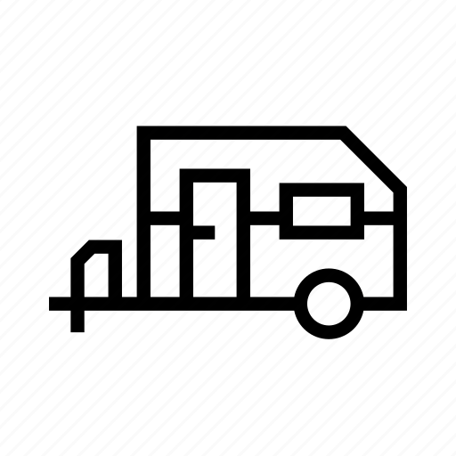 camping, car, mobile, outdoor, trailer, vehicle icon