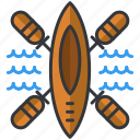 camp, camping, canoe, essentials, outdoor, sail icon