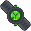 clock, dark, essentials, outdoor, time, watch icon