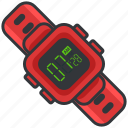 clock, digital, essentials, outdoor, time, watch icon