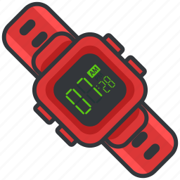 clock, digital, essentials, outdoor, time, watch icon