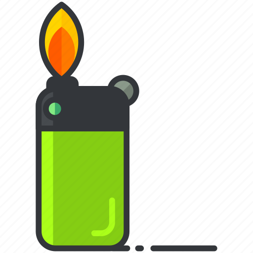 essentials, fire, flame, lighter, outdoor, tool icon