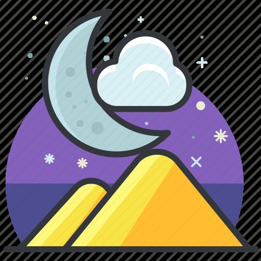 essentials, moon, night, outdoor, scenery icon