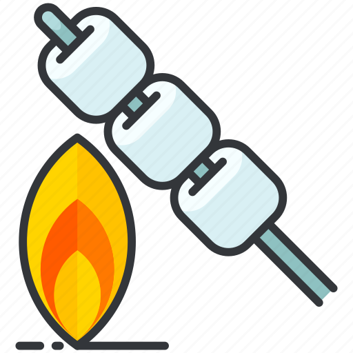 essentials, fire, flame, marshmellows, outdoor, roasting icon