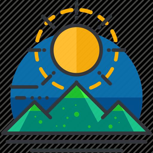 essentials, outdoor, scenery, sunny icon