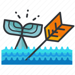 essentials, hunting, ocean, outdoor, sea, whale icon